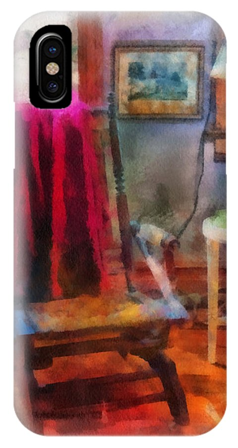 Rocking IPhone X Case featuring the photograph Rocking Chair Photo Art by Thomas Woolworth