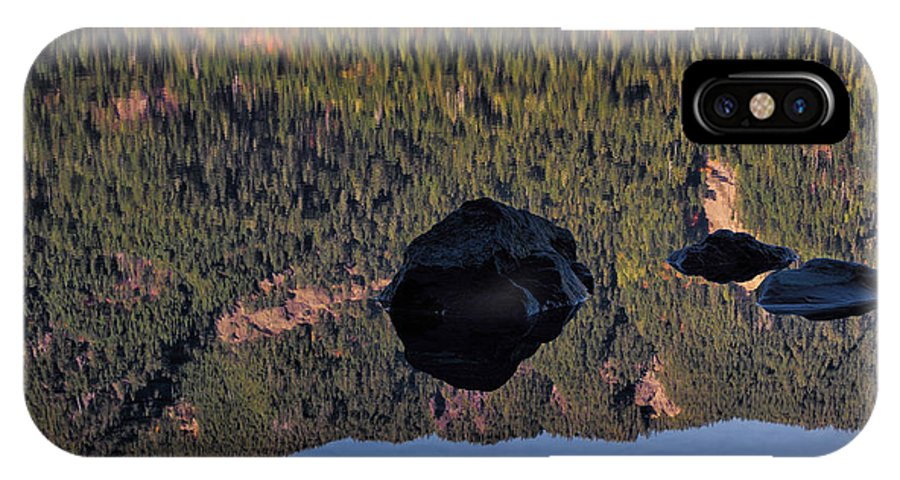 Rock IPhone X Case featuring the photograph Rocks In Crescent Lake by Robert Woodward