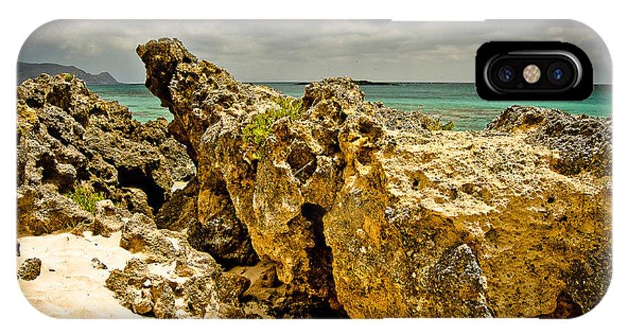 Greece IPhone X Case featuring the photograph Rocks Of Elafonisi Island by Oleg Koryagin