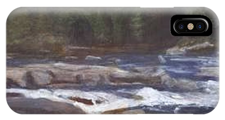 Rocks IPhone X Case featuring the painting Rocks by Sheila Mashaw