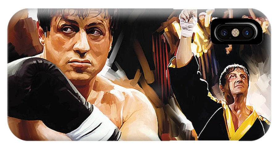 Rocky Paintings IPhone X Case featuring the painting Rocky Artwork 2 by Sheraz A