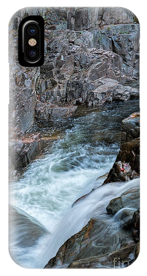 Kancamagus Hwy IPhone X Case featuring the photograph Rocky Gorge by Sharon Seaward