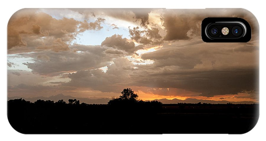 Clouds IPhone X Case featuring the photograph Rocky Mountain Sunset by Kelly Maize