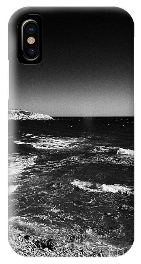 Salou IPhone X Case featuring the photograph Rocky Shoreline At Salou On The Costa Dorada Catalonia Spain by Joe Fox