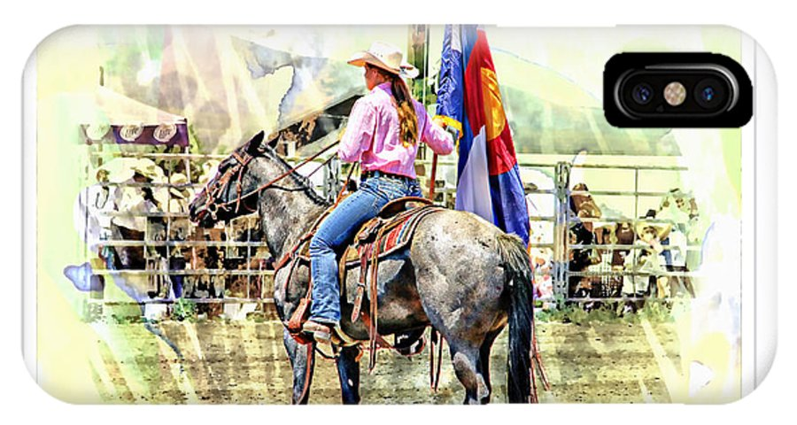 Rodeo IPhone X Case featuring the photograph Rodeo Time In Colorado by Larisa Porter