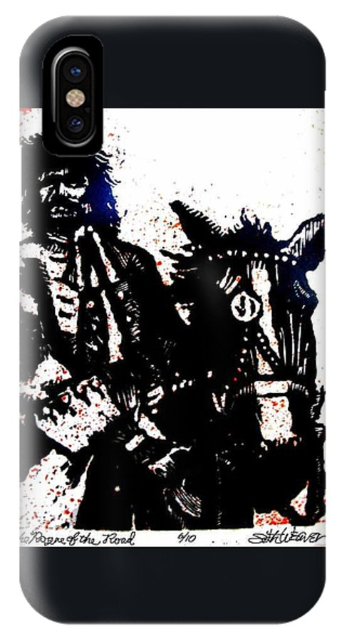 English Highwayman IPhone X Case featuring the mixed media Rogue Of The Road by Seth Weaver