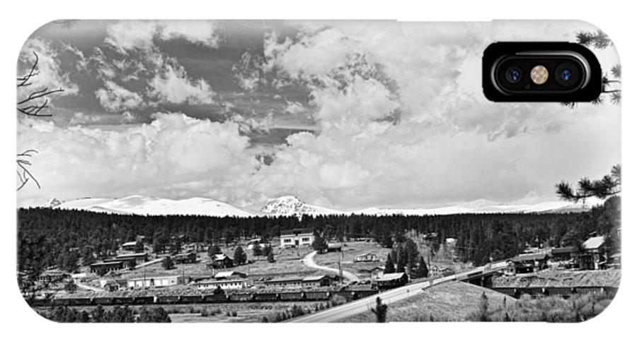 Rollinsville Is A Census-designated Place And A U.s. Post Office Located In Gilpin County IPhone X / XS Case featuring the photograph Rollinsville Colorado Small Town 181 In Black And White by James BO Insogna