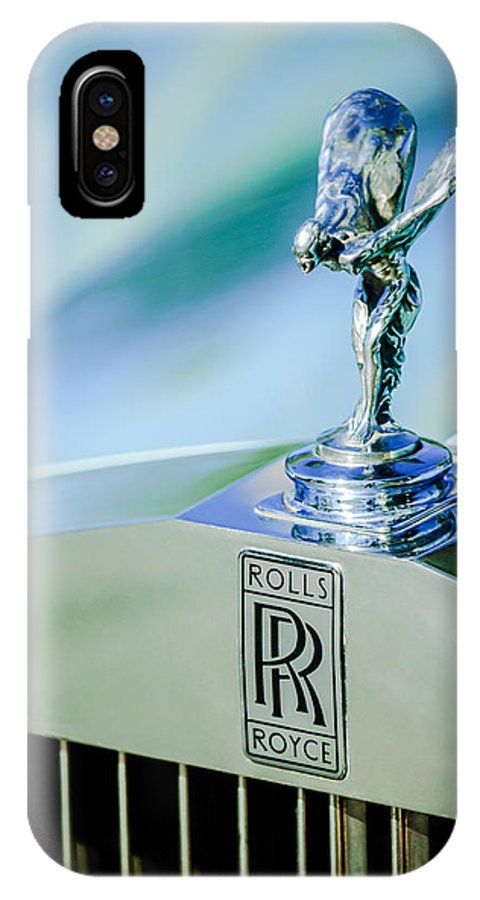 Rolls-royce Hood Ornament IPhone X Case featuring the photograph Rolls-Royce Hood Ornament -782c by Jill Reger