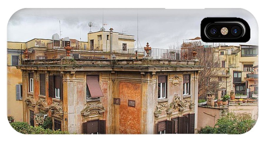 Rome IPhone X Case featuring the photograph Roman House by Michael Paskvan