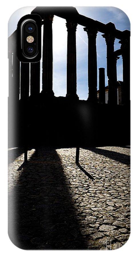 Roman Temple IPhone X Case featuring the photograph Roman Temple Silhouette by Jose Elias - Sofia Pereira