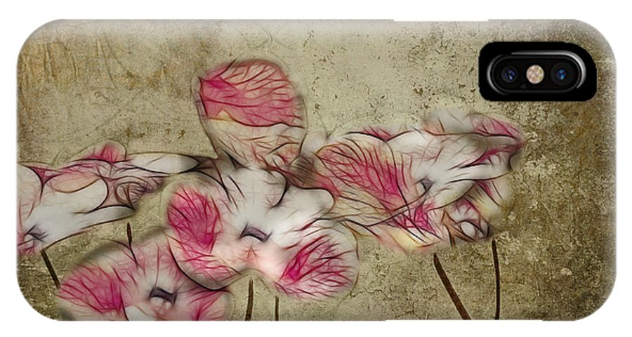Floral IPhone X Case featuring the digital art Romantiquite - 01a by Variance Collections