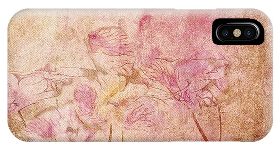 Floral IPhone X Case featuring the digital art Romantiquite - 28at22 by Variance Collections