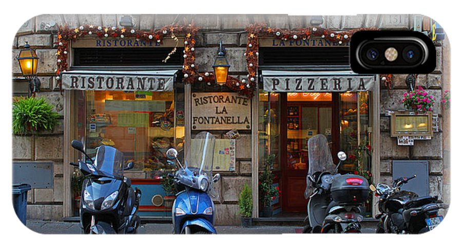 Rome IPhone X Case featuring the photograph Rome Italy Pizzeria by Joseph Semary