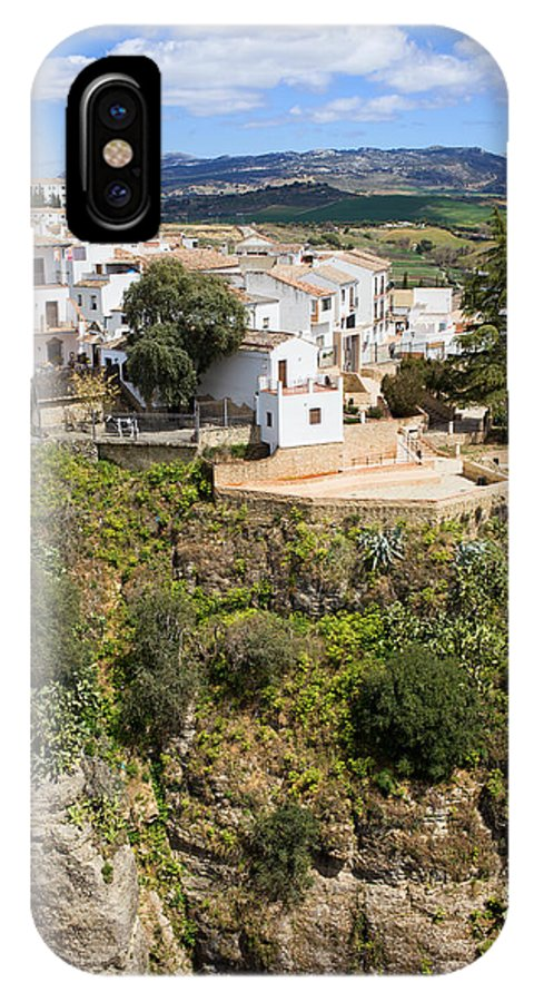 Ronda IPhone X Case featuring the photograph Ronda Houses On A Rock by Artur Bogacki
