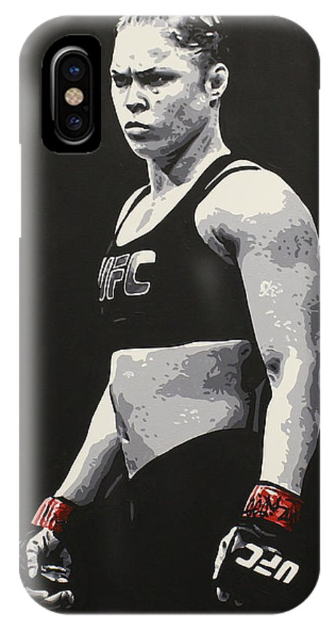 Ronda Rousey IPhone X / XS Case featuring the painting Ronda Rousey by Geo Thomson