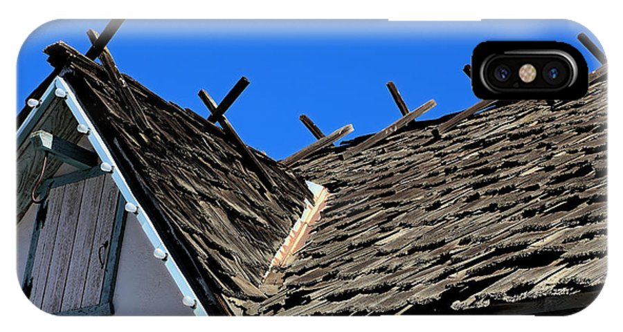 Roof Shingle IPhone X Case featuring the photograph Roof Shingle by Viktor Savchenko