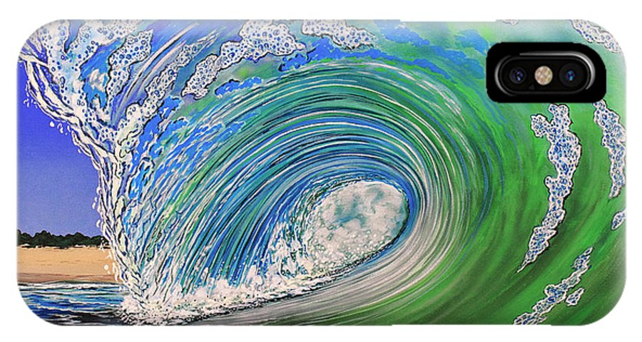 Waves IPhone X Case featuring the painting Room With A View by Marty Calabrese