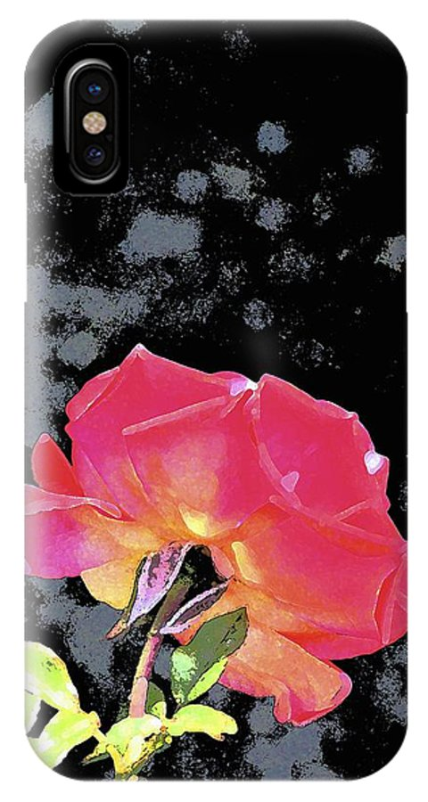 Floral IPhone X Case featuring the photograph Rose 255 by Pamela Cooper