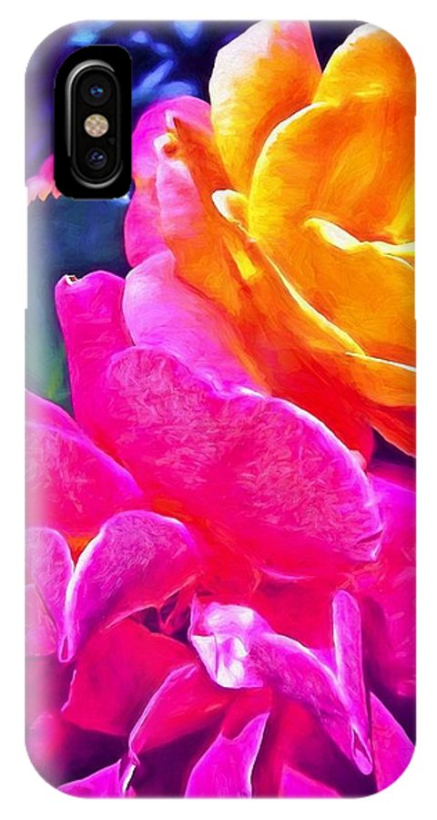 Flowers IPhone X Case featuring the photograph Rose 49 by Pamela Cooper
