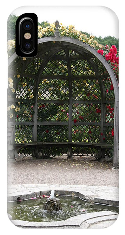 Roses IPhone X Case featuring the photograph Rose Pavilion At Chateau Villandry by Christiane Schulze Art And Photography