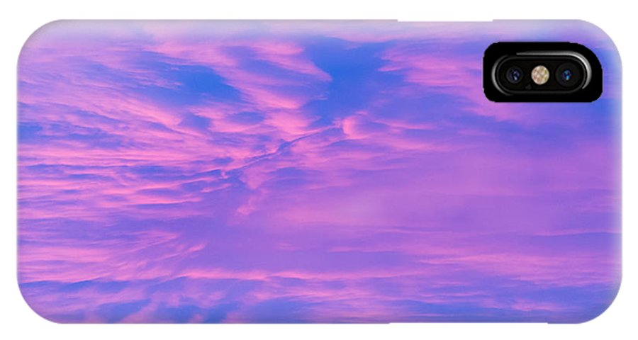 Clouds IPhone X Case featuring the photograph Roseate Hues Of Early Dawn by John Carroll