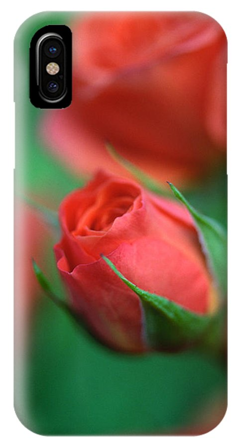 Florals IPhone X Case featuring the photograph Rosebud by Kathy Yates