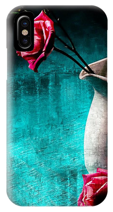 Roses IPhone X Case featuring the photograph Roses by Anne Costello