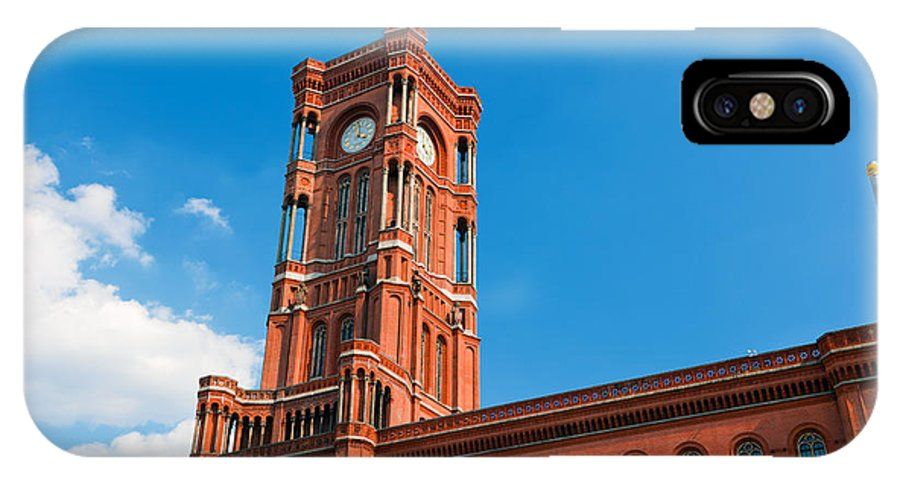 Berlin IPhone X Case featuring the photograph Rotes Rathaus The Town Hall Of Berlin Germany by Michal Bednarek