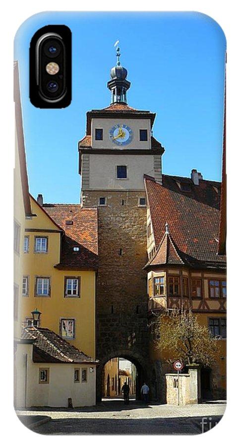 Rothenburg IPhone X / XS Case featuring the photograph Rothenburg Ob Der Tauber by Gisela Scheffbuch