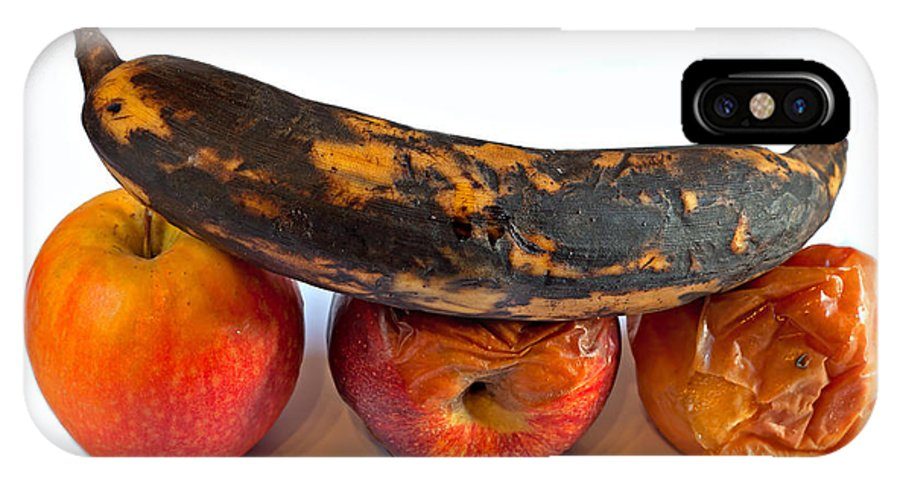 Plantain IPhone X Case featuring the photograph Rotten Fruit by Ken Biggs