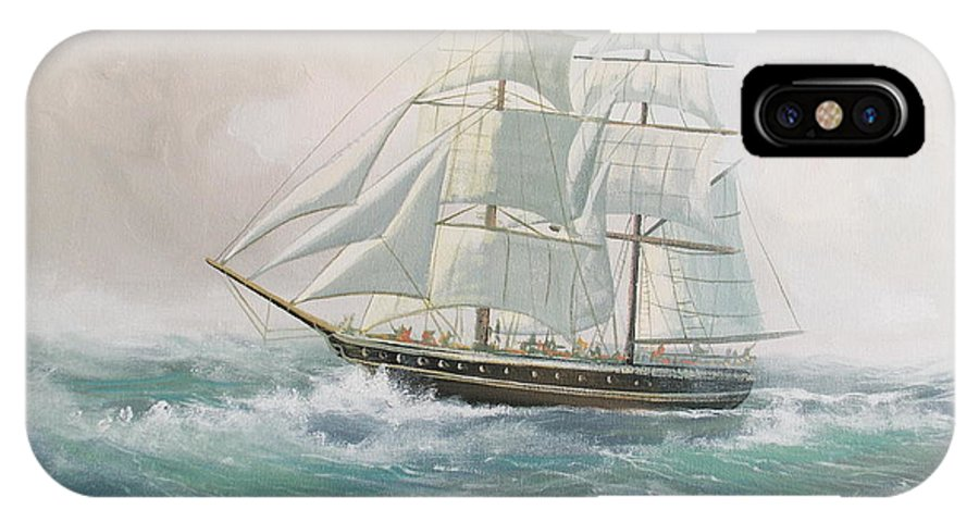 Seas IPhone X Case featuring the painting Rough Seas by Cathal O malley