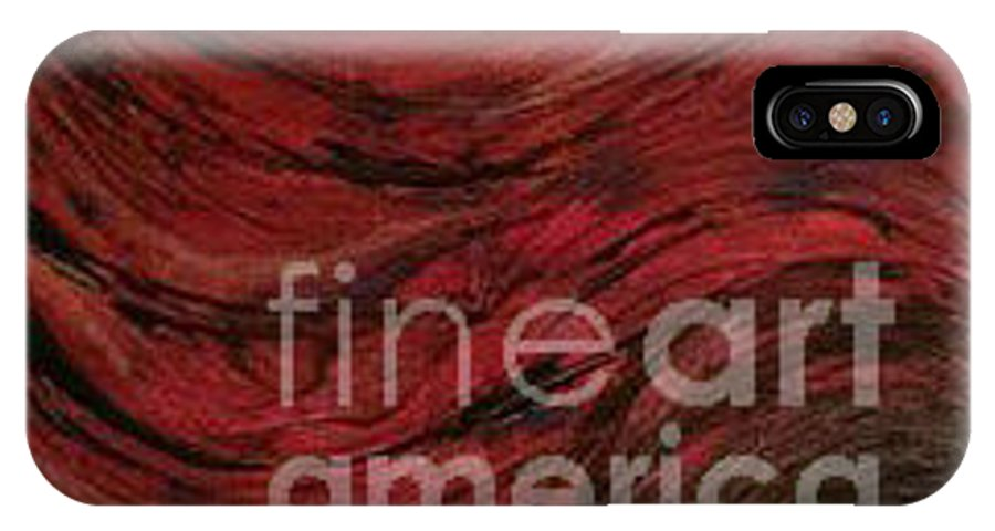 IPhone X Case featuring the painting Rough Waves by Damion Powell