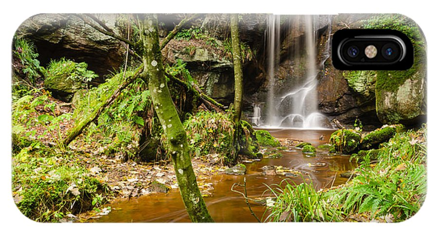 Northumberland IPhone X Case featuring the photograph Roughting Linn Waterfall by David Head