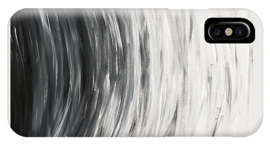 Black IPhone X Case featuring the painting Round And Round by Rebecca Weeks Howard