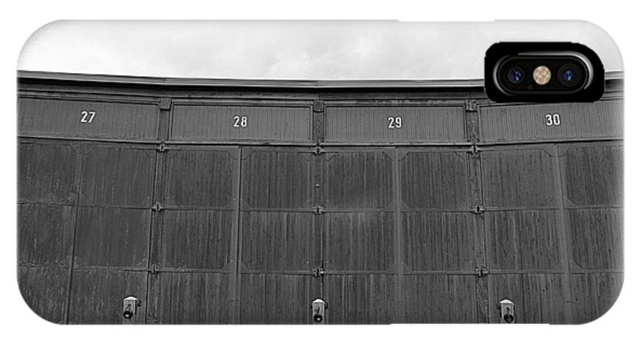 Warehouse IPhone X Case featuring the photograph Roundhouse Depot by Valentino Visentini