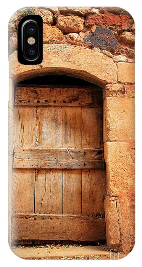 Europe IPhone X Case featuring the photograph Roussillon Door by Inge Johnsson