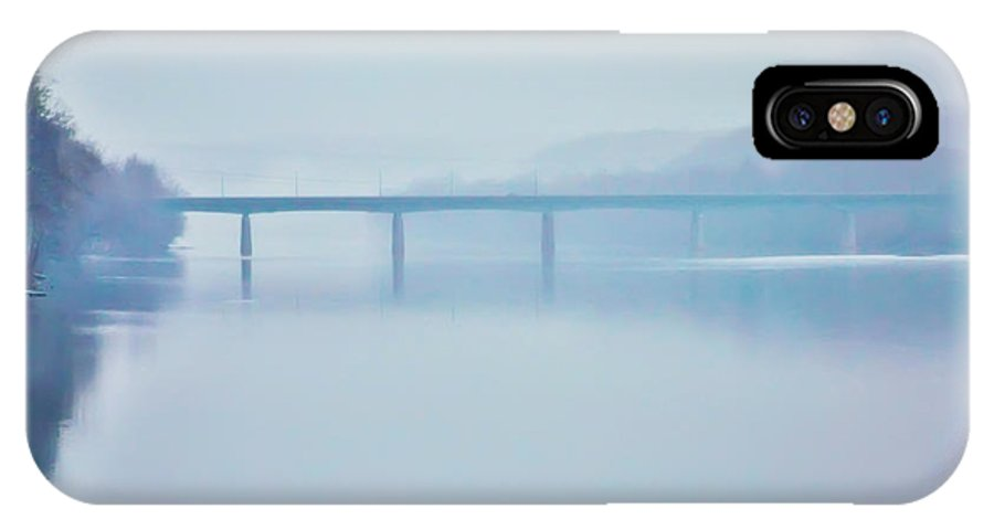 Route IPhone X Case featuring the photograph Route 202 Bridge Over The Delaware River by Bill Cannon