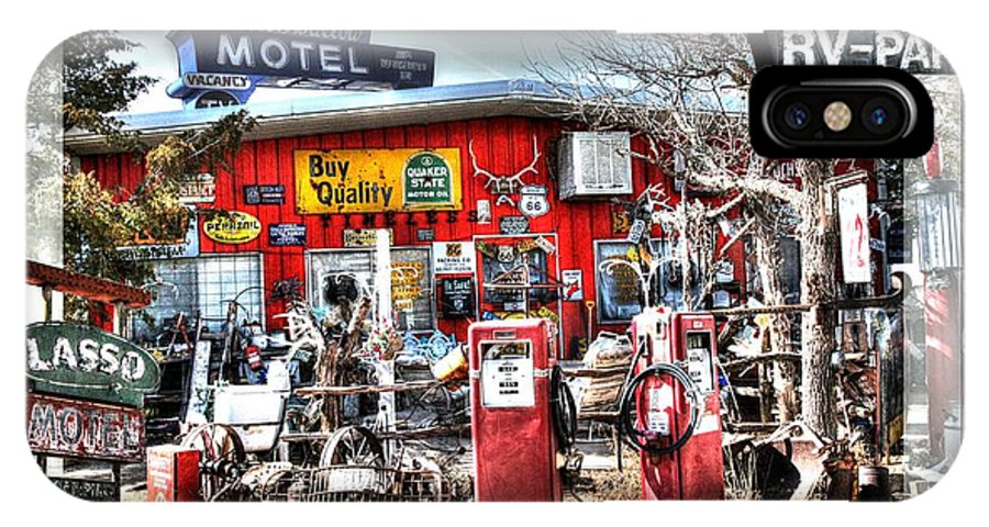 Route 66 IPhone X Case featuring the photograph Route 66 Collage by Gary Gunderson