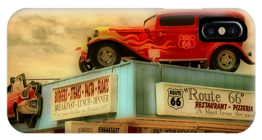 Hdr IPhone X / XS Case featuring the photograph Route 66  Hdr by Thomas MacPherson Jr