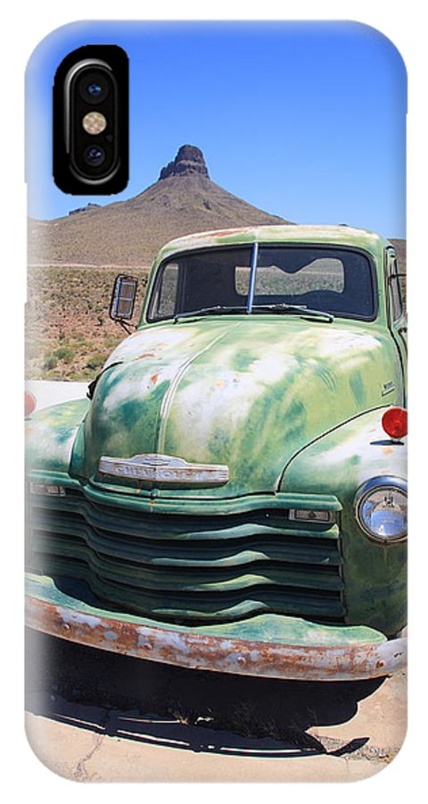 66 IPhone X Case featuring the photograph Route 66 - Old Green Chevy by Frank Romeo