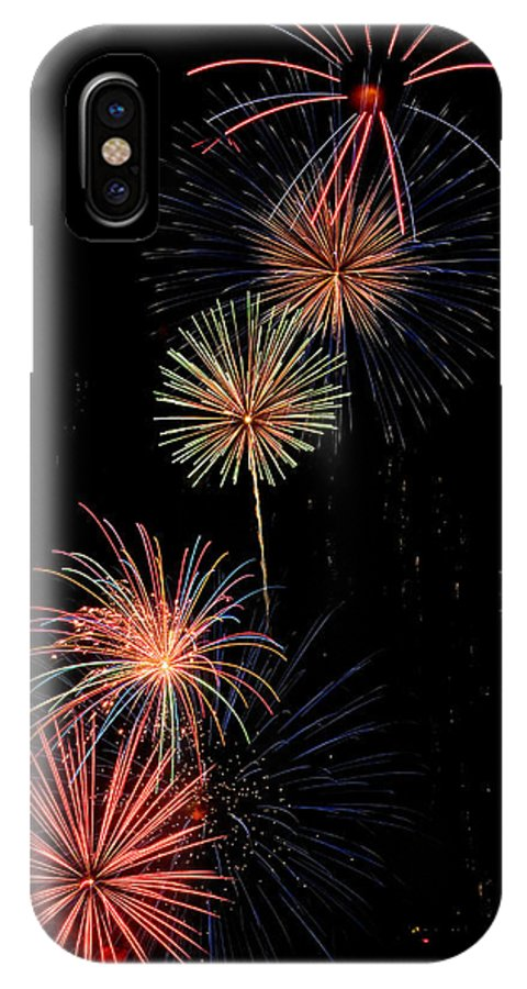 Fireworks IPhone X Case featuring the photograph Row Of Flowers by Devinder Sangha