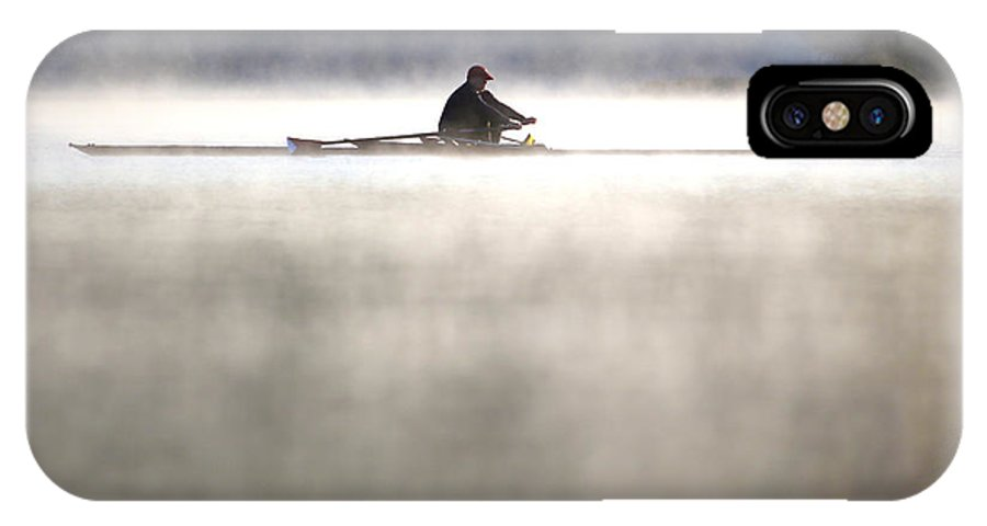 Rowing IPhone X Case featuring the photograph Rowing by Mitch Cat