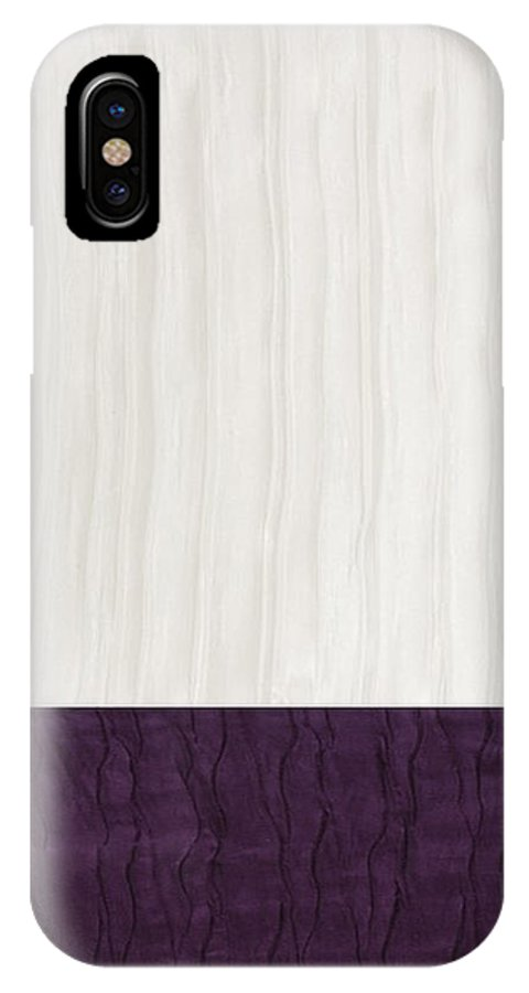 Aubergine IPhone X Case featuring the digital art Royal Aubergine - Royal Purple by Margaret Ivory