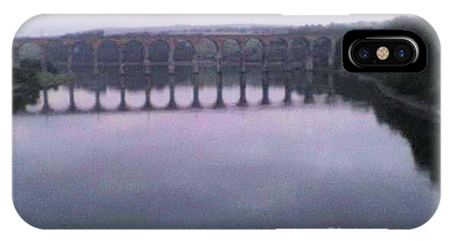 Royal IPhone X Case featuring the photograph Royal Border Bridge Berwick Upon Tweed by Fiona Glass W