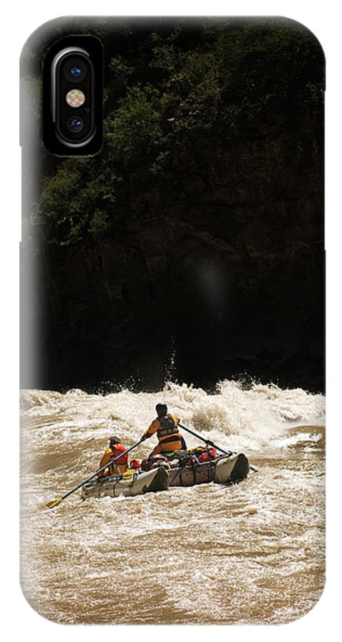 Adventure IPhone X Case featuring the photograph Rubber Raft Running Rapids by Kyle George