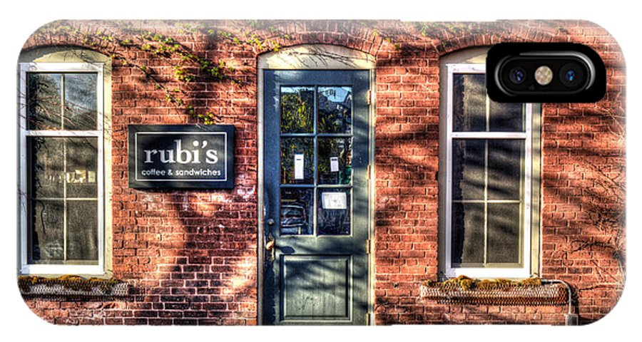 Brick Building IPhone X Case featuring the photograph Rubi's Coffee And Sandwiches - Great Barrington by Geoffrey Coelho