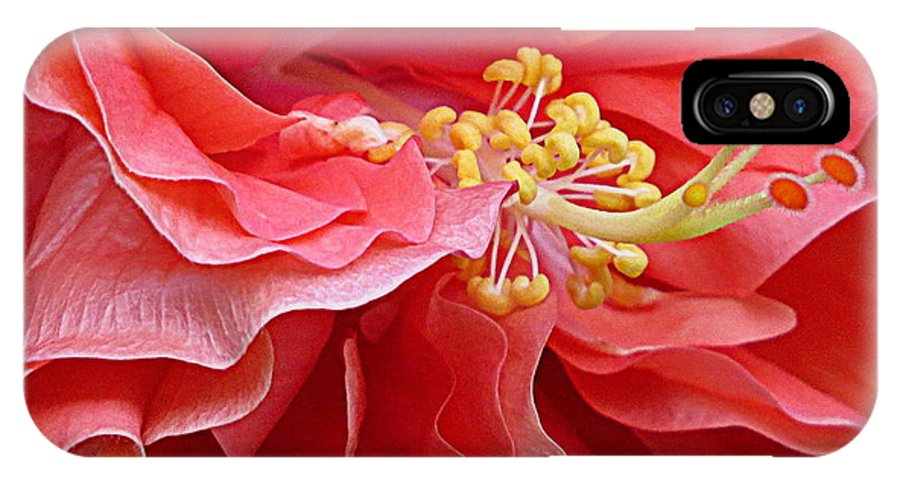 Flower IPhone X Case featuring the photograph Ruffled Flower Ballet by Laura Louise