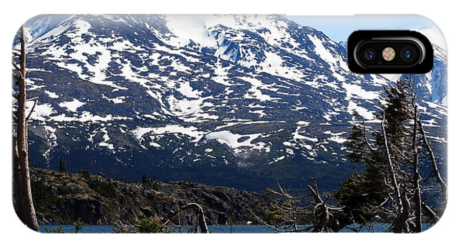 Alaska IPhone X Case featuring the photograph Rugged Alaska by Lyndall Hamlett