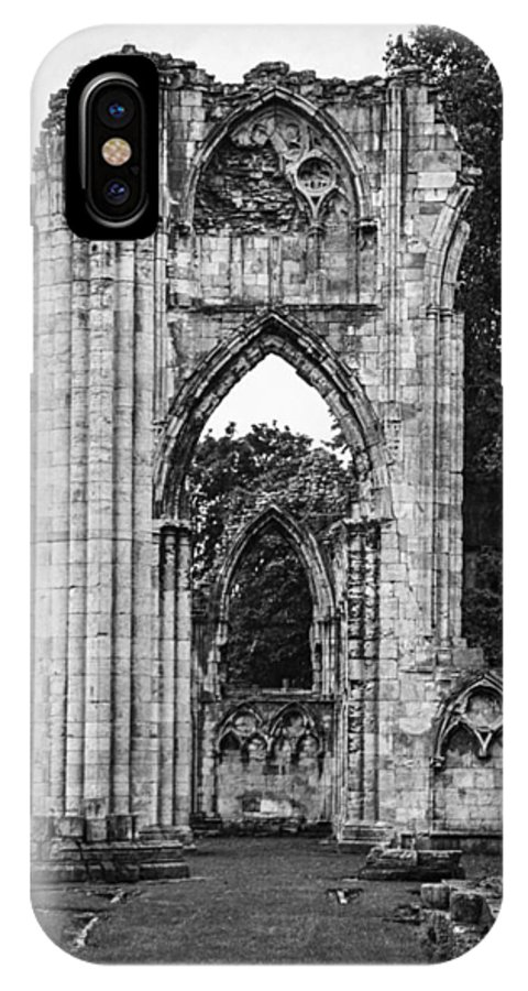 Abbey IPhone X Case featuring the photograph Ruins Of St. Mary's Abbey by Ross Henton