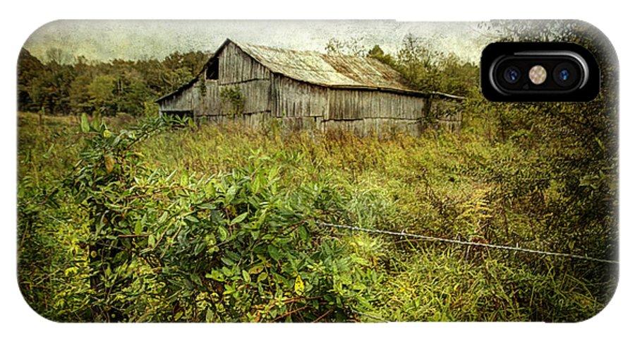 Barn IPhone X Case featuring the photograph Run Down Barn by Joan McCool